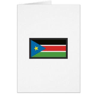 SOUTH SUDAN FLAG GREETING CARD