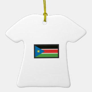 SOUTH SUDAN FLAG CHRISTMAS TREE ORNAMENTS