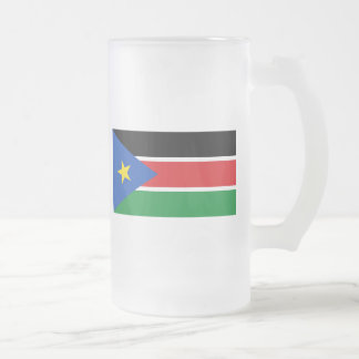south sudan flag frosted glass mug