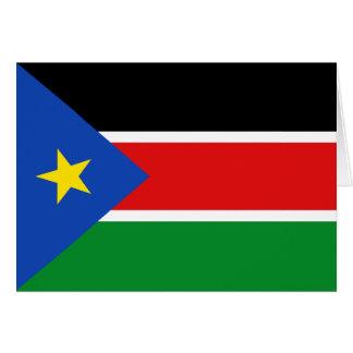 South Sudan Flag Notecard Greeting Card