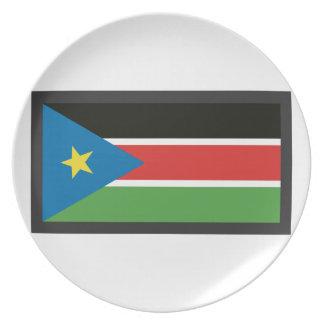 SOUTH SUDAN FLAG PLATE