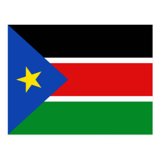 South Sudan Flag Postcard