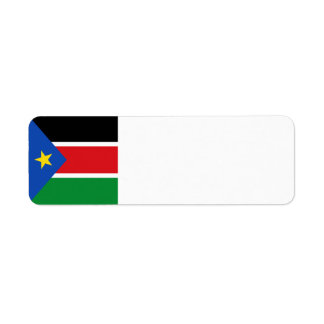 South Sudan Flag Return Address Label