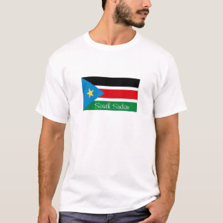 South Sudan flag souvenir tshirt