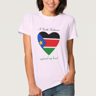 South Sudan Flag Sweetheart T-Shirt