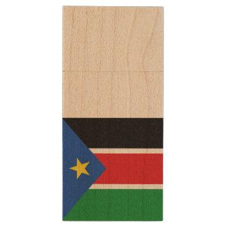 South Sudan Flag Wood USB 3.0 Flash Drive