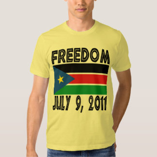 South Sudan Freedom Flag Tshirt