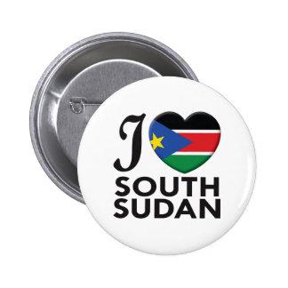 South Sudan Love Pinback Button