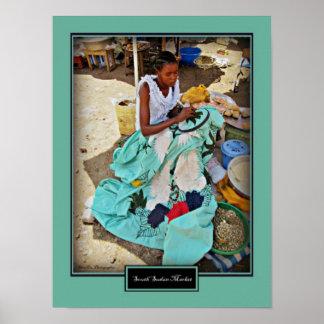 South Sudan Market Scene Poster