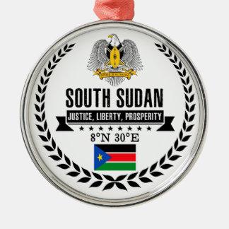 South Sudan Metal Ornament