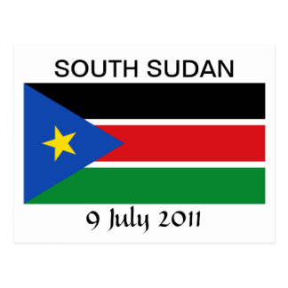 South Sudan National Flag Postcard