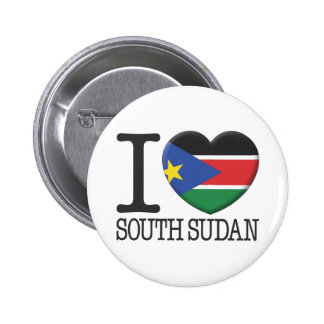 South Sudan Pinback Buttons