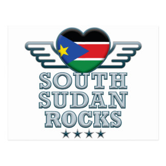 South Sudan Rocks v2 Postcard