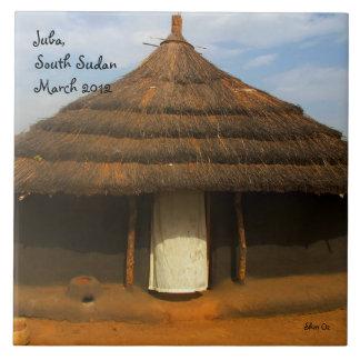 South Sudan Tukul Large Square Tile