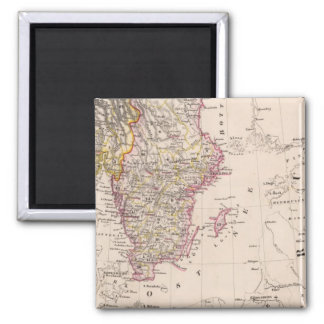 South Sweden and Norway Square Magnet