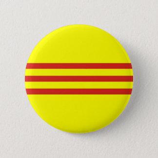 south vietnam ethnic flag 6 cm round badge