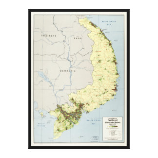 South Vietnam Map September 1972 Stretched Canvas Prints