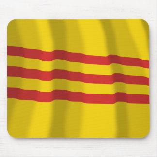 South Vietnam Waving Flag Mousepad
