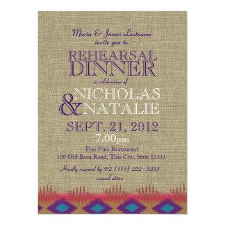 South West Rehearsal Dinner 14 Cm X 19 Cm Invitation Card
