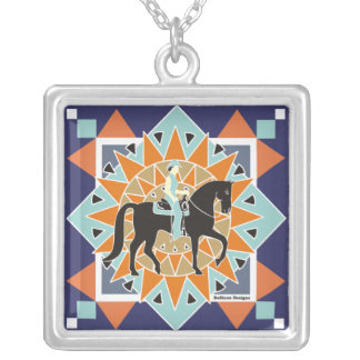 South Western Flair Equestrian Necklace