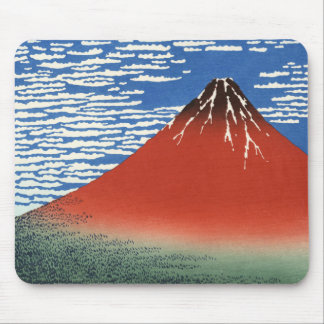 South Wind Clear Sky, Red Fuji, Katsushika Hokusai Mouse Pad