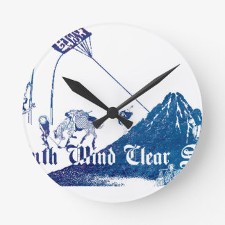 South Wind Clear Sky Round Clock