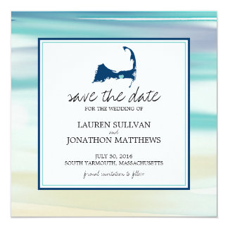South Yarmouth Cape Cod Watercolor Save the Date Card