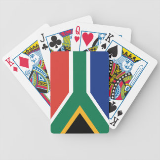 Southafrican flag bicycle playing cards