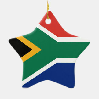 Southafrican flag ceramic ornament
