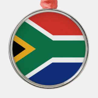 Southafrican flag metal ornament