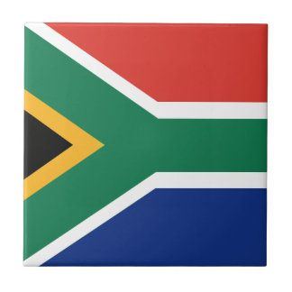 Southafrican flag small square tile