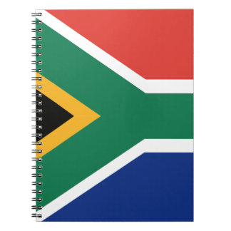 Southafrican flag spiral notebooks