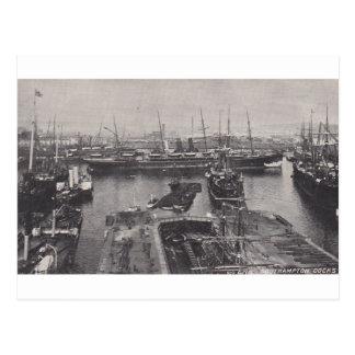 Southampton Docks 1905 Postcard