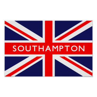 Southampton UK Flag Poster