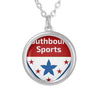 Southbound Sports Crest Logo Silver Plated Necklace