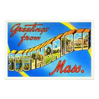 Southbridge Massachusetts MA Old Travel Souvenir Photo