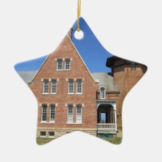 Southeast Lighthouse Building Block Island Ceramic Ornament