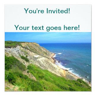 Southeastern Bluffs Block Island 13 Cm X 13 Cm Square Invitation Card