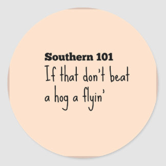 southern101-3 classic round sticker