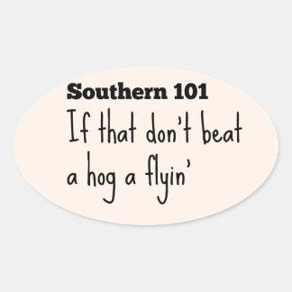 southern101-3 oval sticker