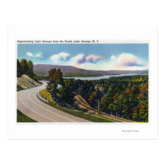 Southern Approach to Lake from Highway Postcard