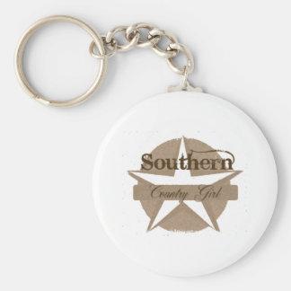 Southern Basic Round Button Key Ring