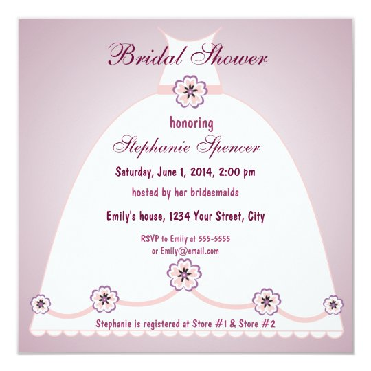Southern Belle Bridal Shower Invitation