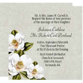 Southern Belle Magnolias Custom Wedding Invitation