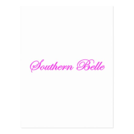 Southern Belle Post Card
