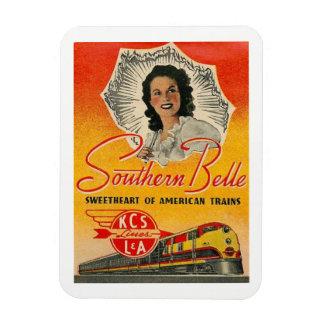 Southern Belle Train Railroad Vintage Rectangular Photo Magnet