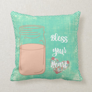 Southern Bless Your Heart w/Mason Jar Cushion