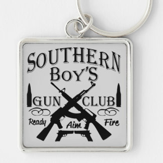 Southern Boy Girl Redneck Gun Club Key Ring