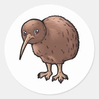 Southern Brown Kiwi Round Sticker