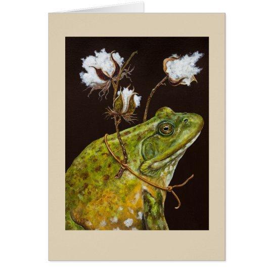 Southern bullfrog card